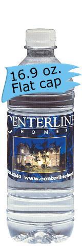 16.9 Oz. Water Bottle - Flat Cap