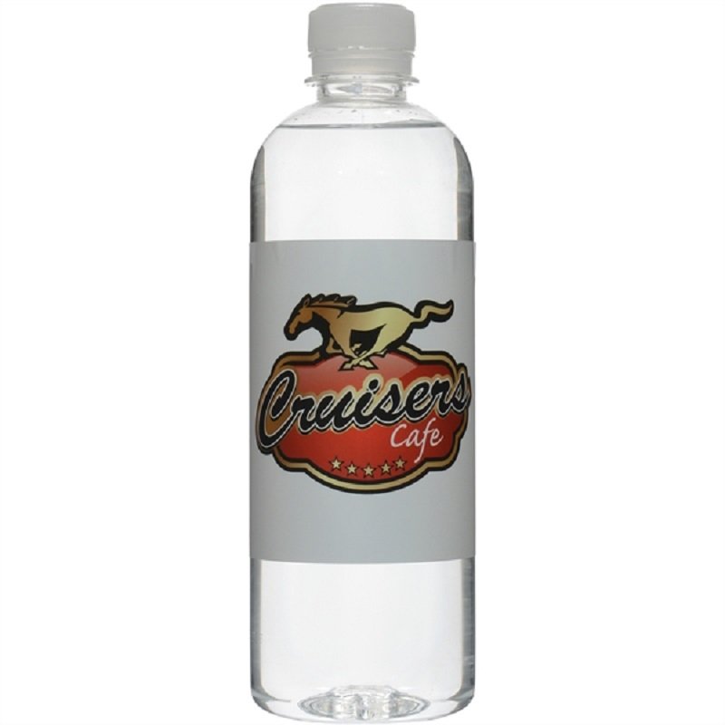 16.9 Oz Short Bullet Custom Label Bottled Water