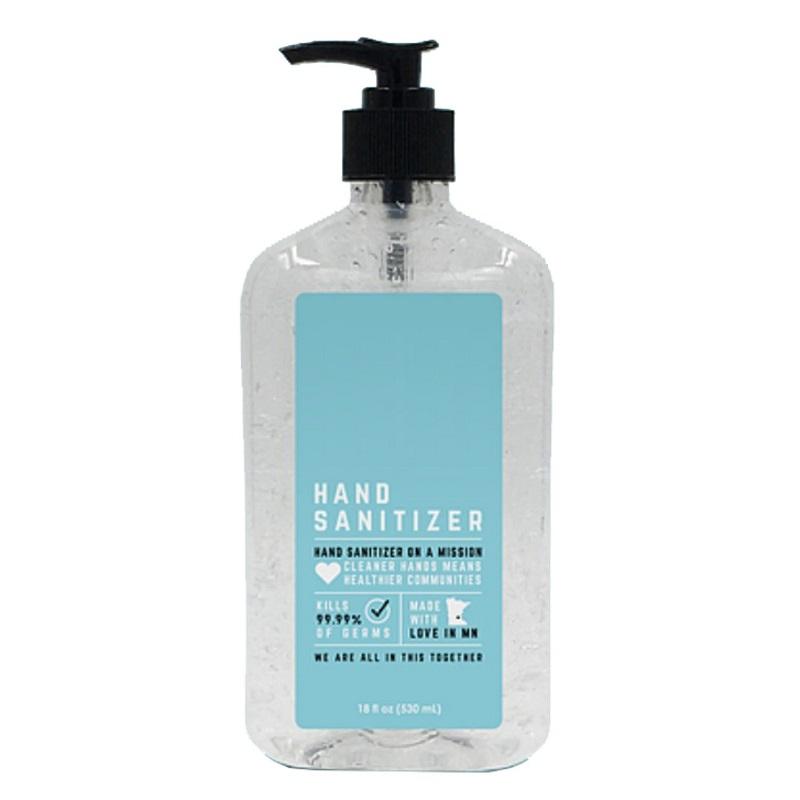 18 Oz USA Made Antibacterial Gel Hand Sanitizers