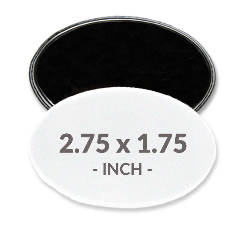 2.75 X 1.75 Inch Oval Magnet Buttons