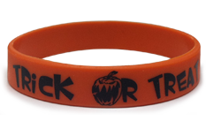 Half Inch Trick Or Treat Wristbands