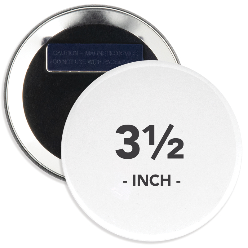3.5 Inch Round Wearable Clothing Magnet Buttons