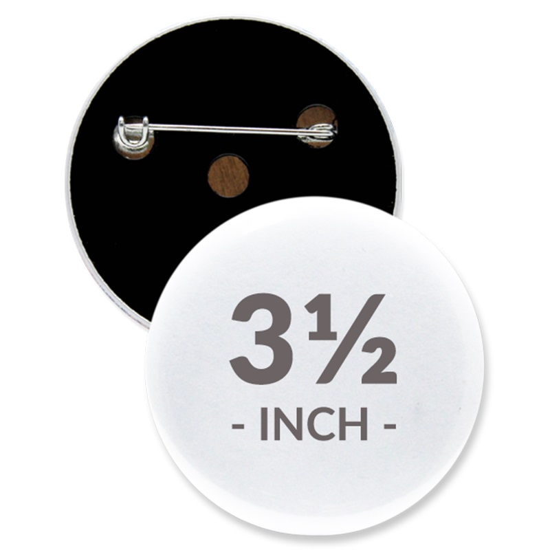 3 1/2 Inch Round Custom Buttons
