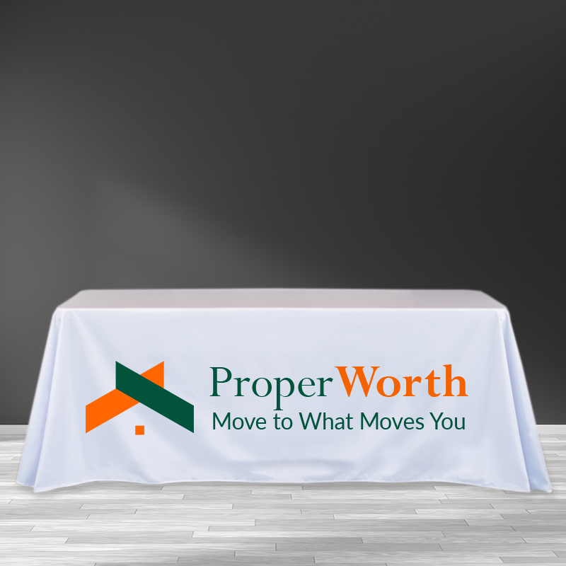 8FT Trade Show Table Cover - Full Color Imprint