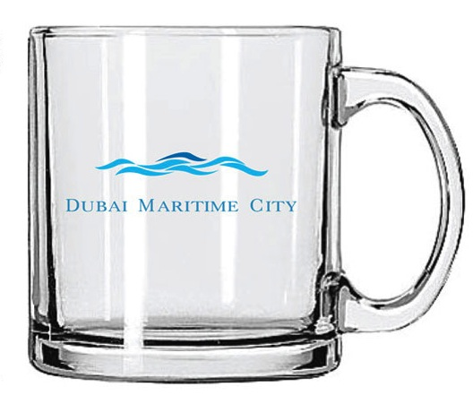 Beverage Glass Mug - 13 Oz