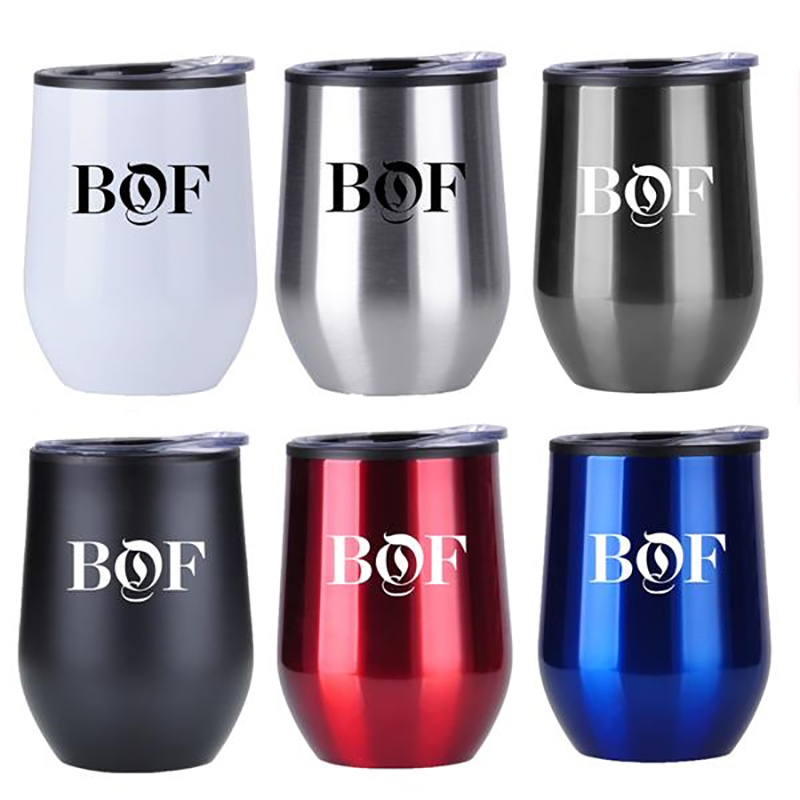 Custom 12 Oz Stainless Steel Wine Tumblers