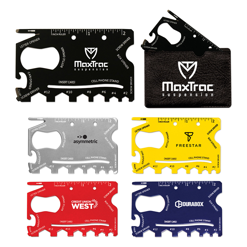 Custom 18-in-1 Credit Card Sized Survival Tools