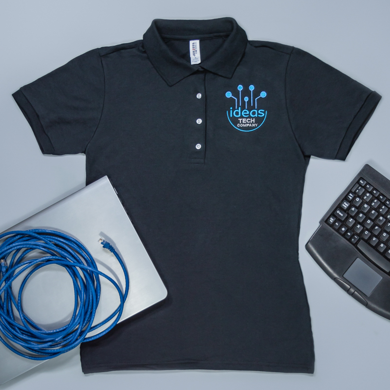 Custom Embroidered Ladies Jersey Polo With SpotShield™