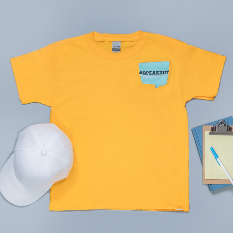 Custom Embroidered Youth Basic Cotton T-Shirts