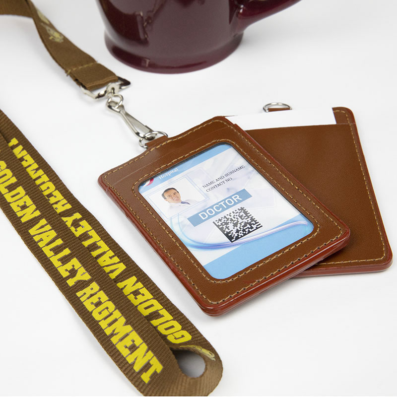 Custom Lanyards With PU Card Holders