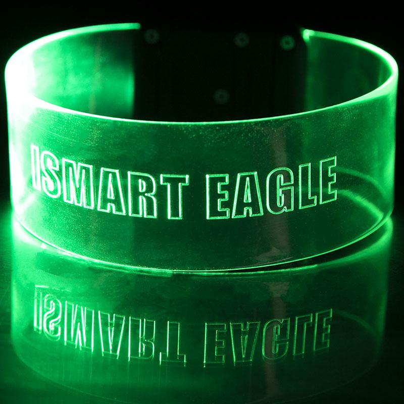 Custom Laser Engraved LED Magnetic Wristband Bracelet