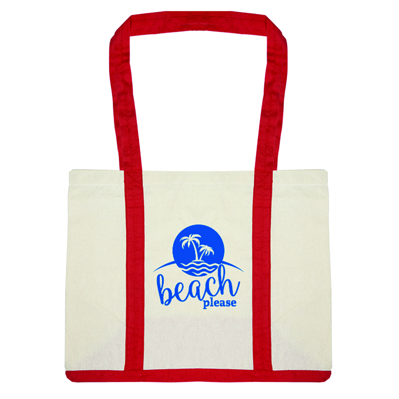 Custom Two Tone Cotton Canvas Tote Bags
