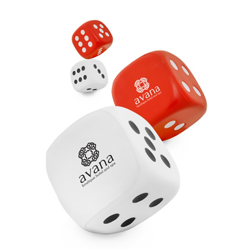 Dice Shaped Stress Balls