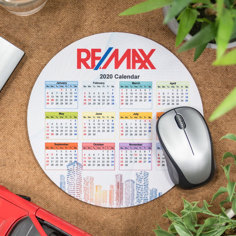 Full Color 2020 Calendar Circle Mouse Pads