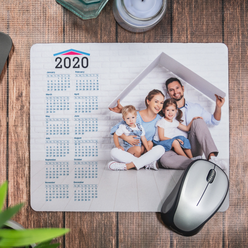 Full Color 2020 Calendar Rectangle Mouse Pads