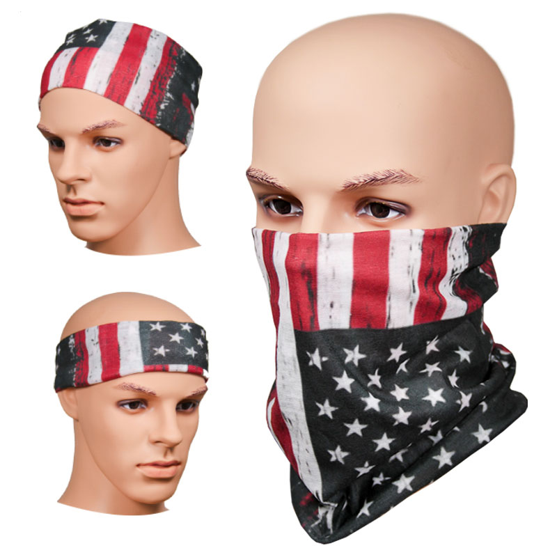 Full Color Multi-Functional Face Covering Neck Gaiters