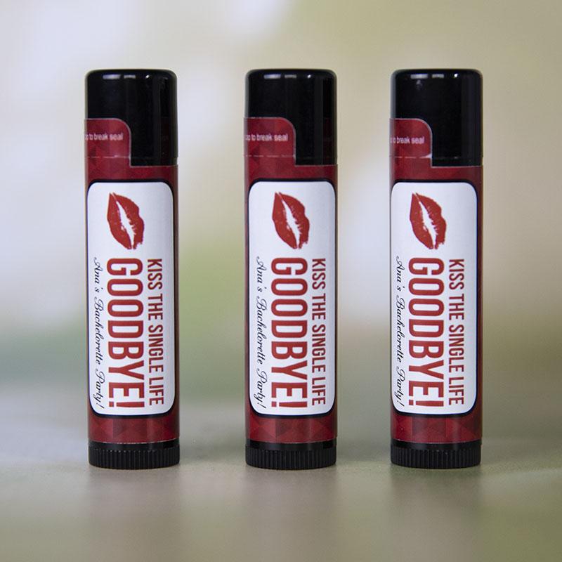Natural Lip Balm In Black Tube - Full Color