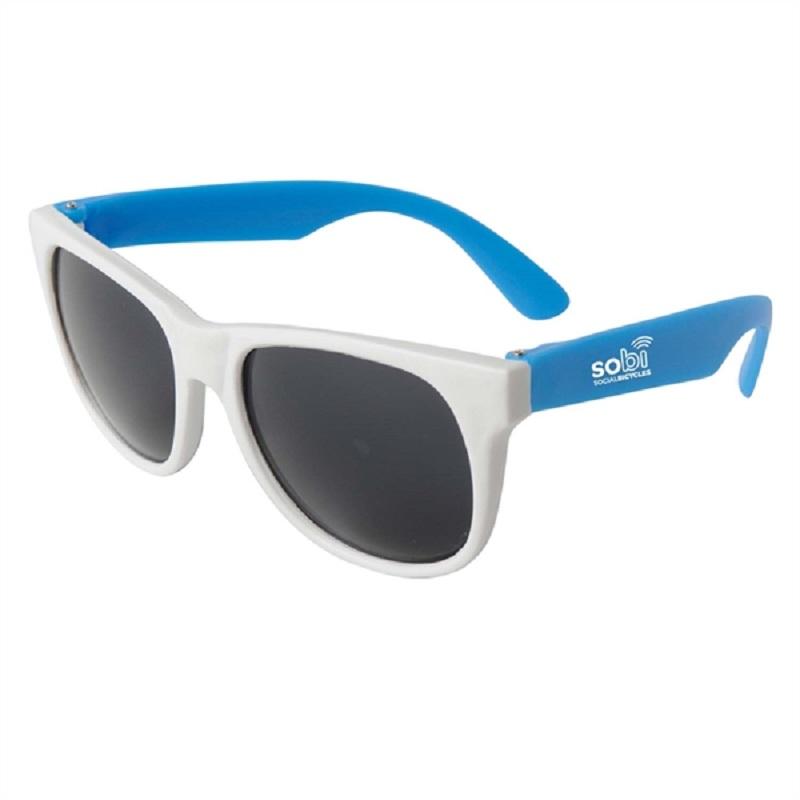 Custom White Frame Plastic Sunglasses