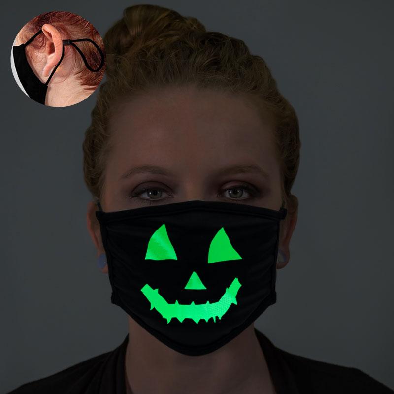 Pumpkin Face Glow In The Dark Face Mask