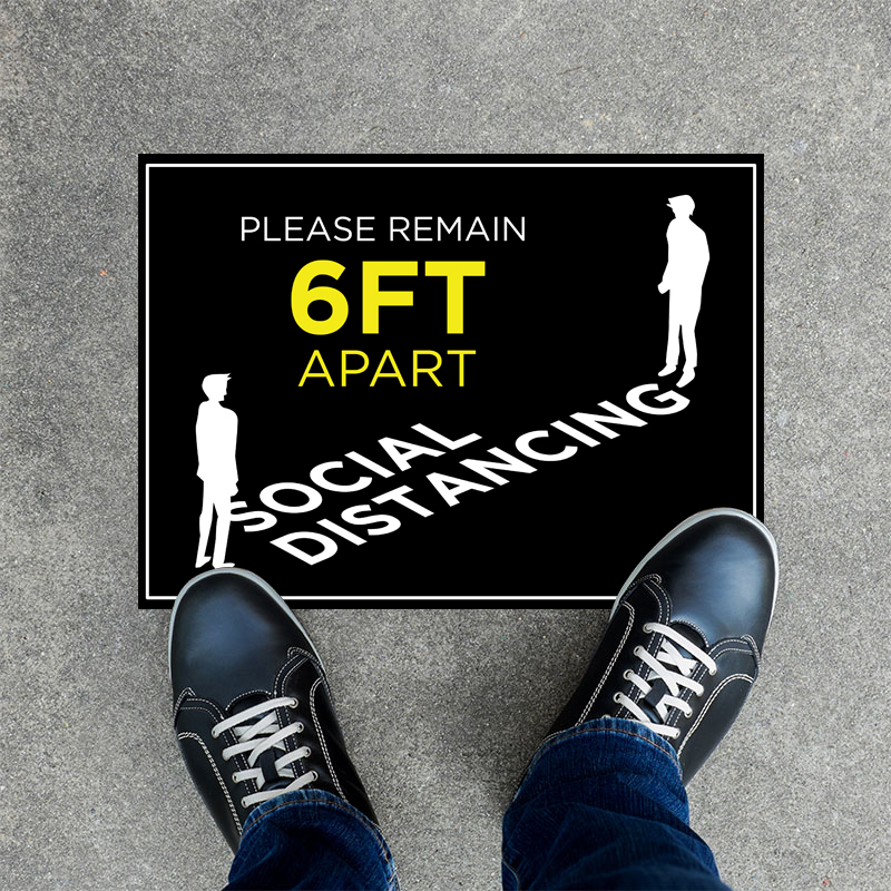 Remain 6ft Apart Social Distancing Stickers