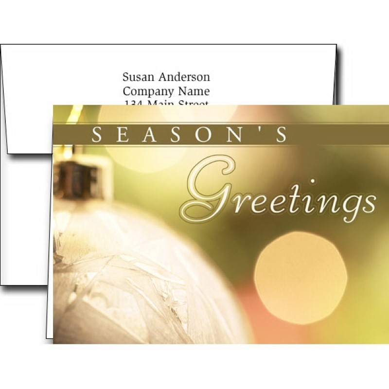 Seasons Greetings Holiday Greeting Cards With Imprinted Envelope