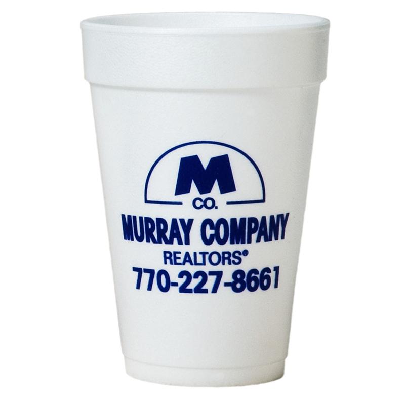 Tall White Styrofoam Coffee Cup - 16 Oz
