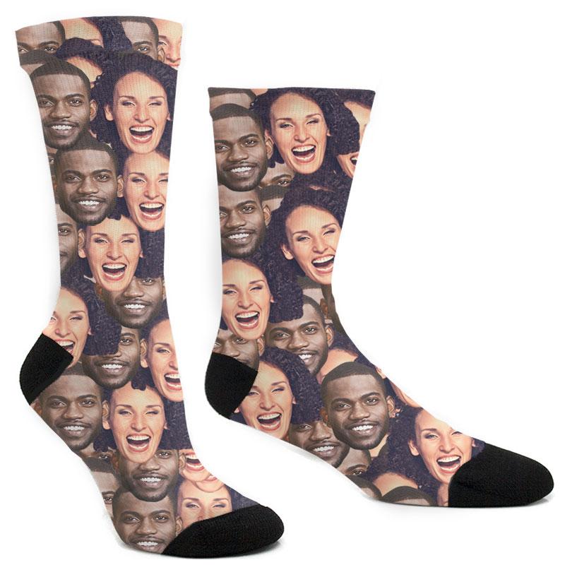 Custom Couple Mash Up Socks