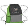 1 - Lime Green - Backpacks; Bags-drawstring