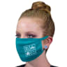 Cotton 3-Layer Fabric Face Masks Teal