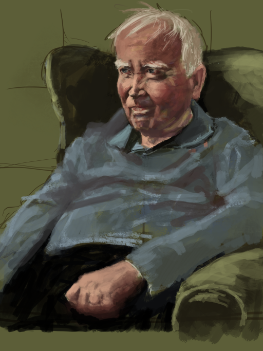 Portrait of my Father in his nursing home.
