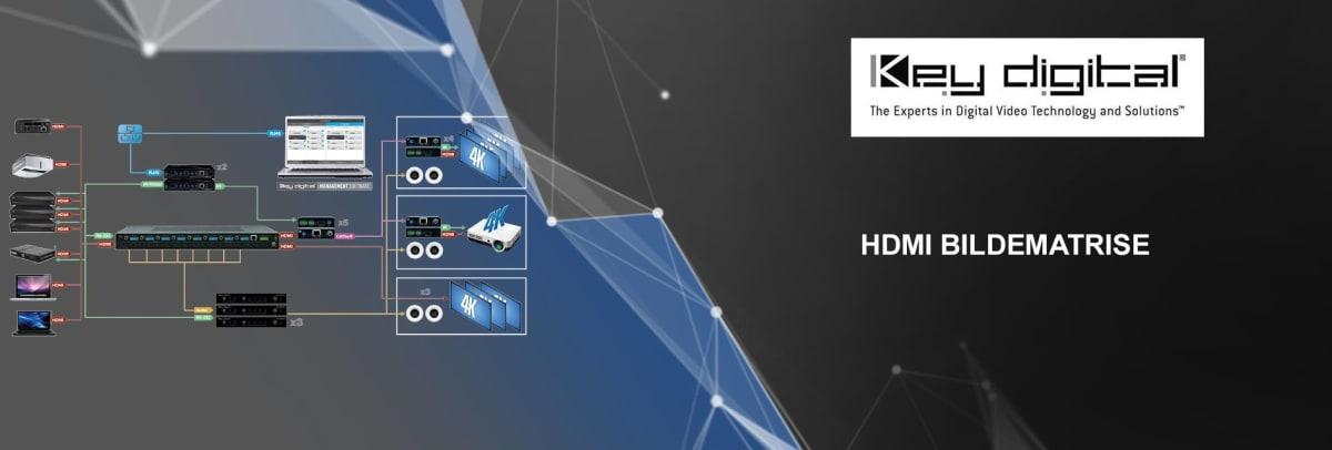 Key Digital HDMI bildematrise