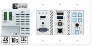 Key Digital KD-X3x1WUTx, HDBaseT Transmitter Wall Plate with Auto Switching