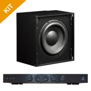 Triad Speakers 2 x InCeiling Bronze/10 Sub with RackAmp 300