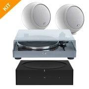 Vinyl pakke # 4 - Sonos AMP, hvite Gallo Acoustics Micro & Elac MIRACORD 50
