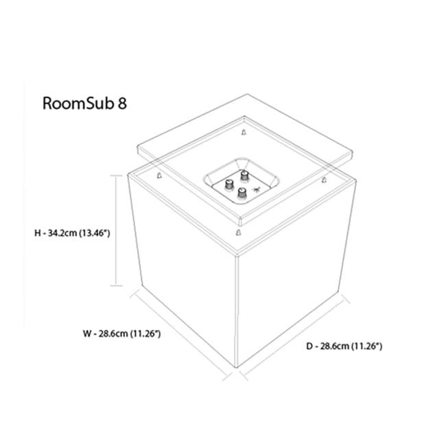 RoomSub subwoofere 8 er designet for å utfylle alle Gallo sin høyttalerserie