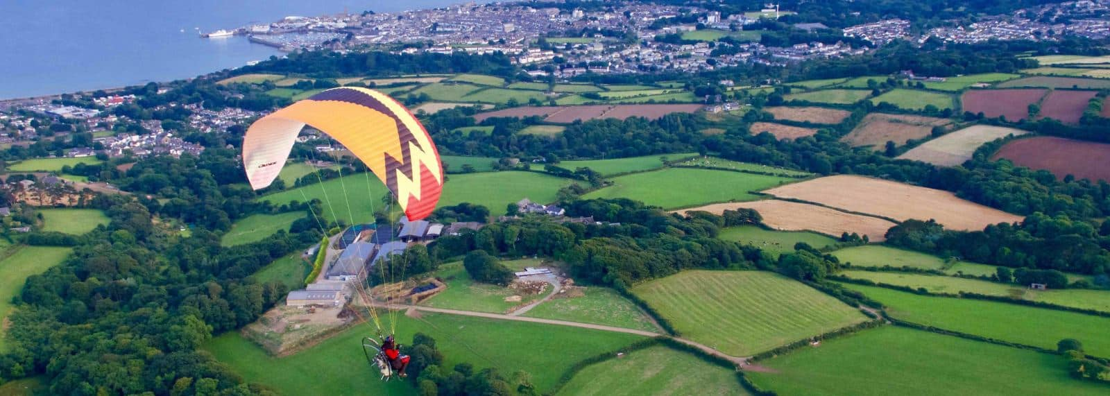 James Borges Paramotoring over Penzance