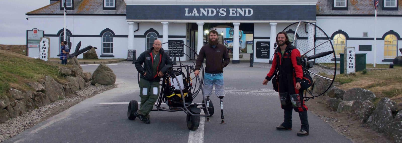 Alex Ledger Cayle Royce and james Borges at Lands End