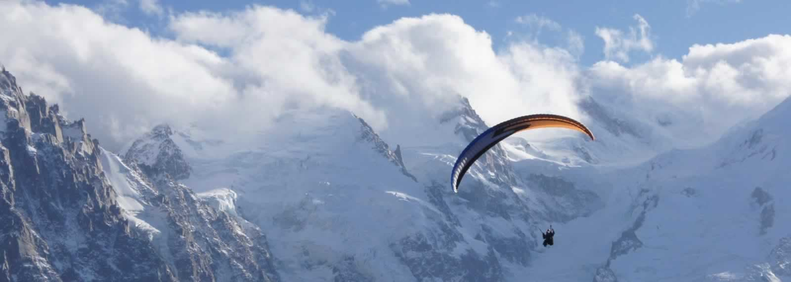 Paragliding near Mt Blanc - SkySchool