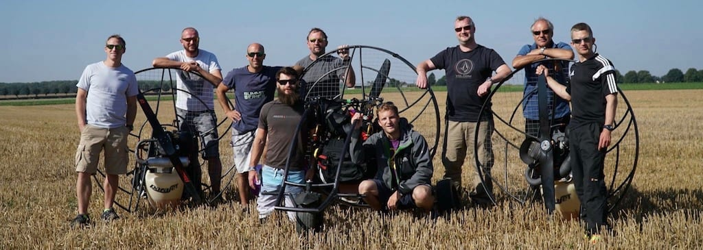 Somme Battlefield Paramotor Tour 2016
