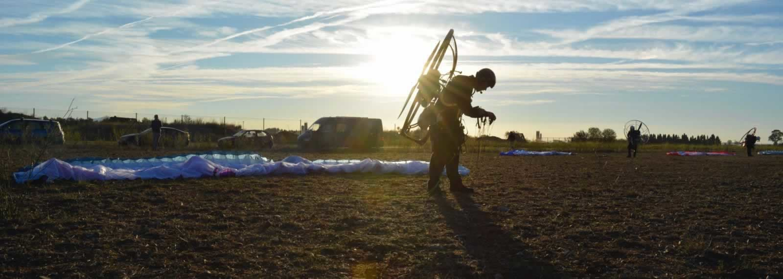 Paramotoring in Italy with SkySchool