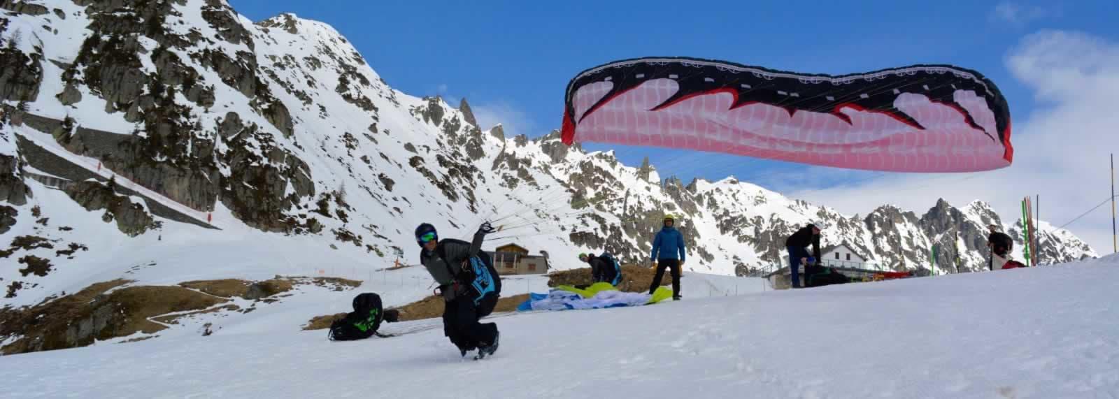 Planpraz Take off in Chamonix - SkySchool
