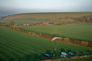Paramotoring in Mere, Wiltshire