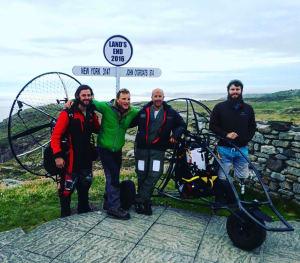 The team arrive at Lands End