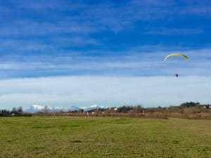 Paramotor Training area in Italy