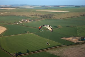 Solo Paramotor Flight in Mere, Wiltshire with SkySchool UK