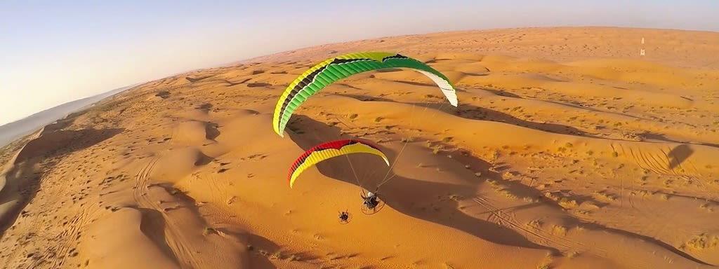 Paramotoring in the Desert