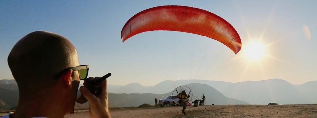 SkySchool UAE Instructor teaching Paramotoring