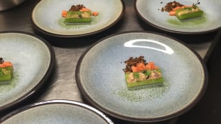 Cucumber, Rye and Home Smoked Salmon from Top Hat Catering
