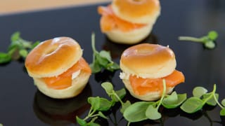Mini Bagels for Afternoon Tea from TopHat