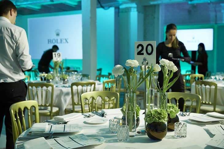 TopHat Catering at the Rolex Event